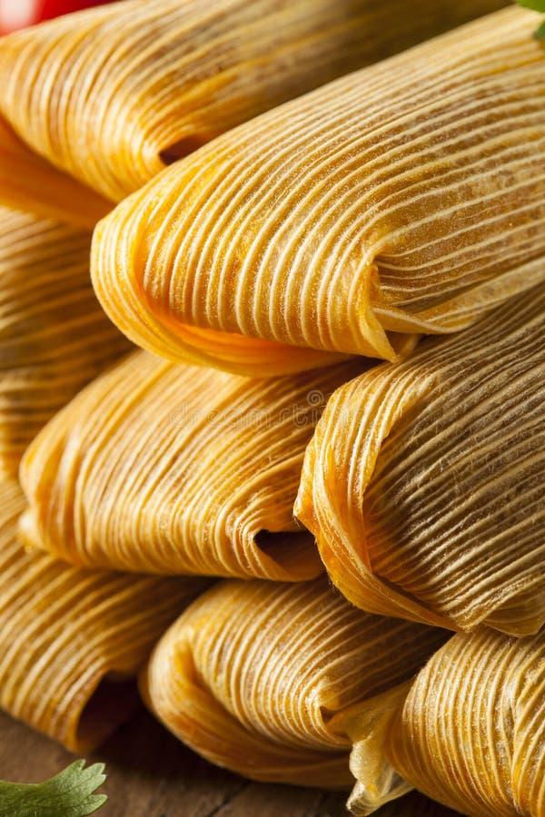 Domowej roboty kukurudzy i kurczaka tamales obrazy royalty free