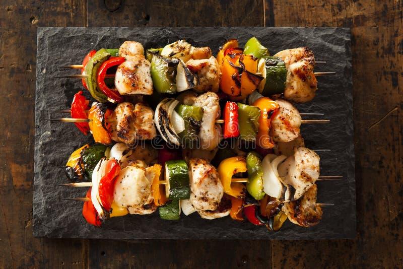 Domowej roboty kurczaka Shish kebaby obrazy stock