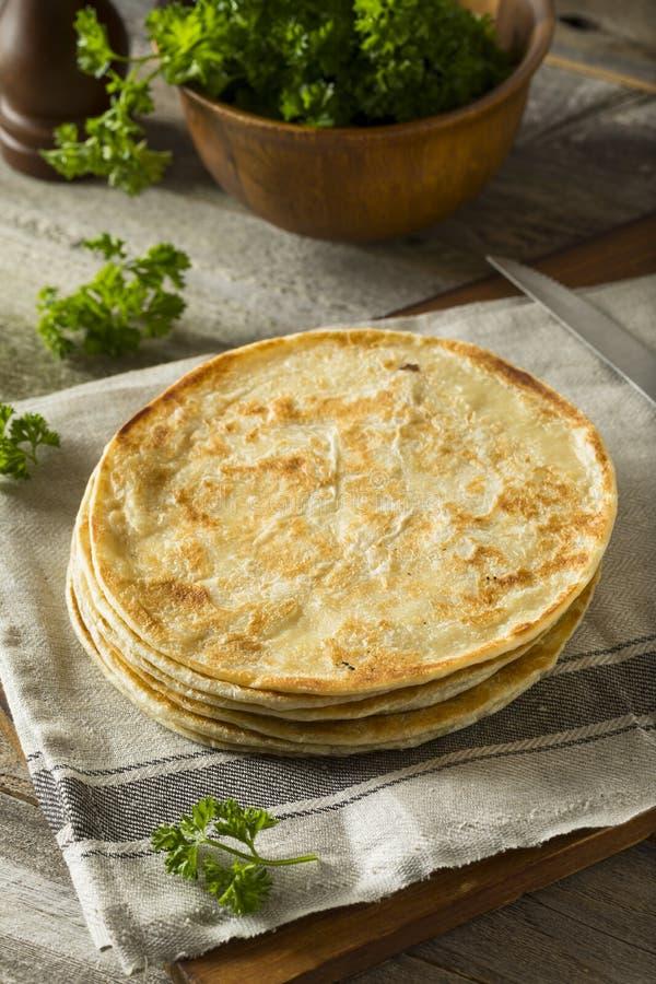 Domowej roboty mąka indianina Paratha chleb obrazy royalty free