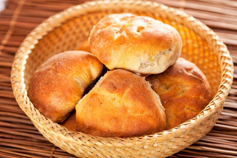 Domowej roboty mali chleby zdjęcie stock