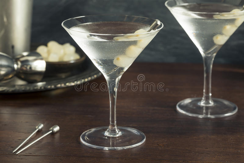 Domowej roboty Pijacki Gibson Martini obraz royalty free