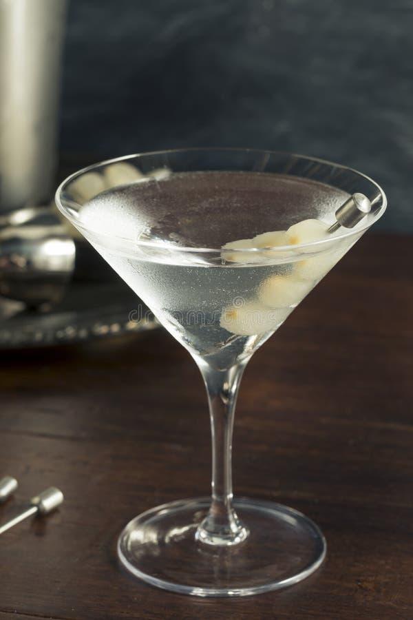 Domowej roboty Pijacki Gibson Martini zdjęcia stock