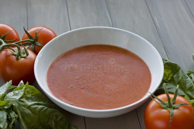 Domowej roboty Pomidorowa polewka z warzywami obrazy stock