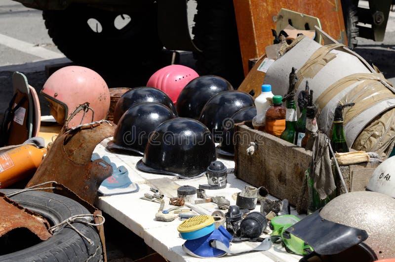 Domowej roboty protestujący broń, Kijów, majdan, Ukraina obrazy royalty free