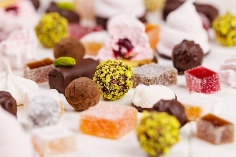 Domowej roboty słodycze asortyment Selekcyjna ostrość zdjęcie stock