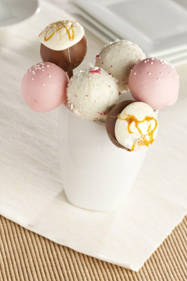 Domowej roboty smakosz Cakepops obrazy stock