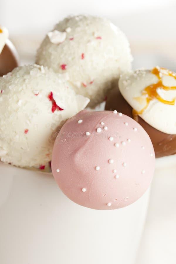 Domowej roboty smakosz Cakepops zdjęcia royalty free