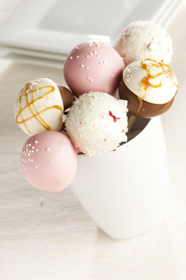 Domowej roboty smakosz Cakepops zdjęcie royalty free