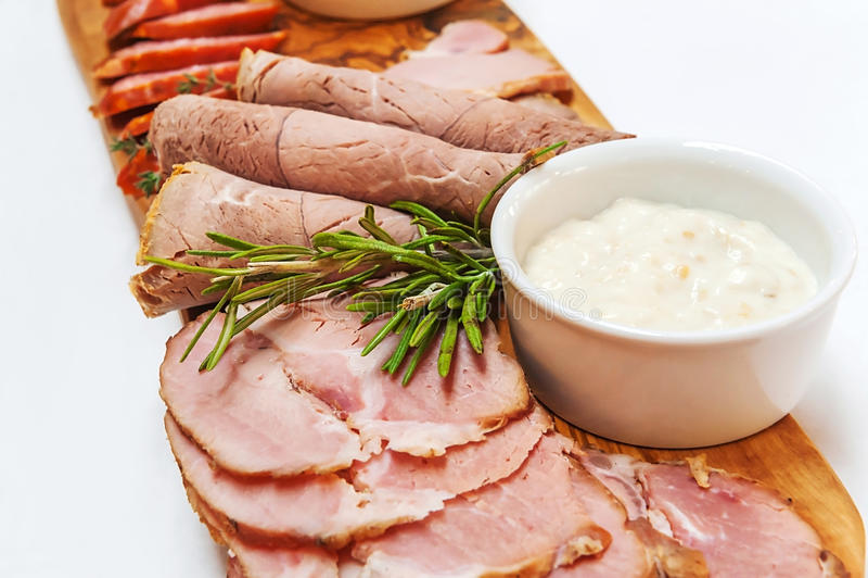 Domowej roboty uwędzony mięso fotografia stock
