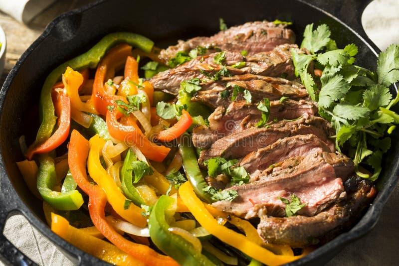 Domowej roboty wołowina stku Fajitas fotografia stock