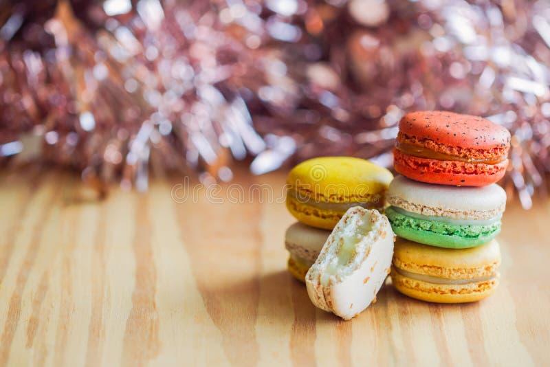 Domowej roboty wyśmienicie kolorowy Francuski macaron lub włoszczyzny macaron st obraz royalty free