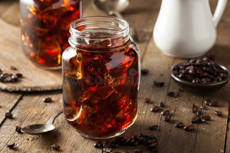 Domowej roboty Zimna parzenie kawa zdjęcie royalty free