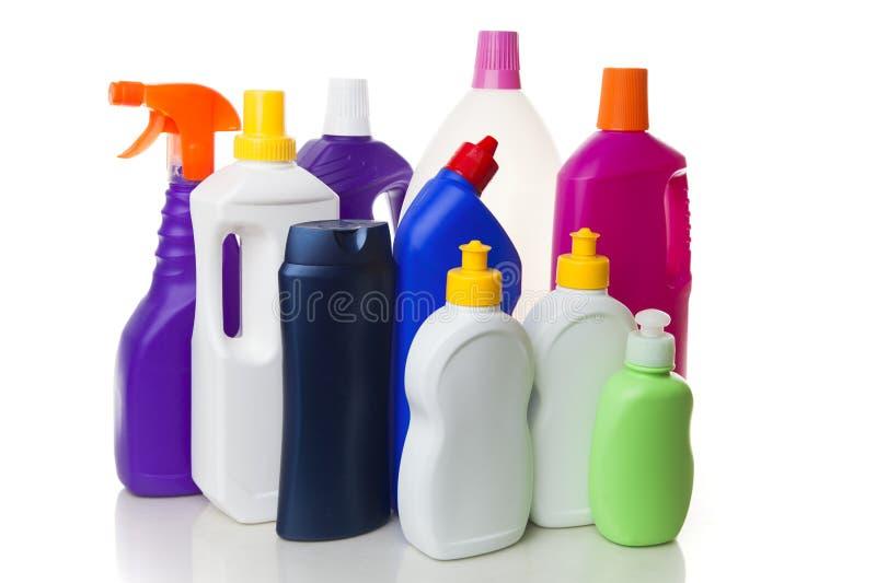 Domowi cleaning produkty zdjęcie stock