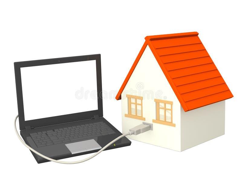 domowi internety ilustracji
