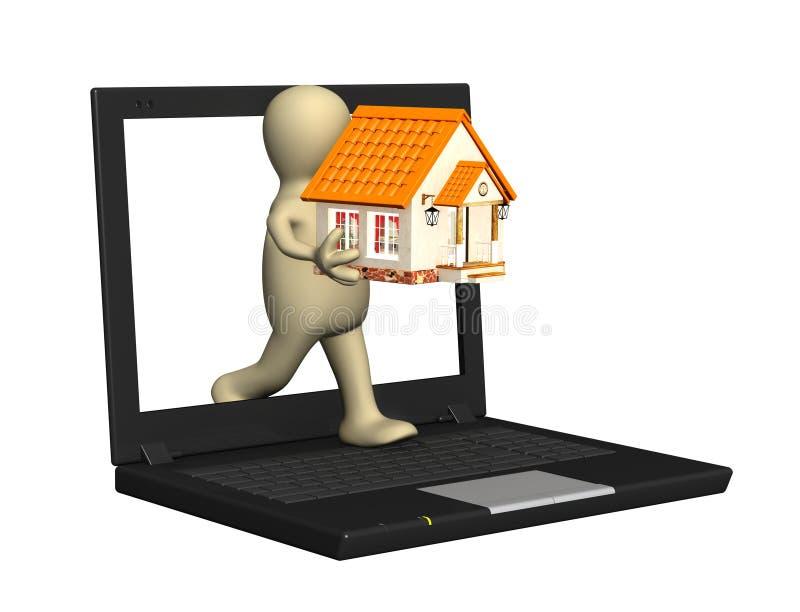 domowi internety ilustracja wektor