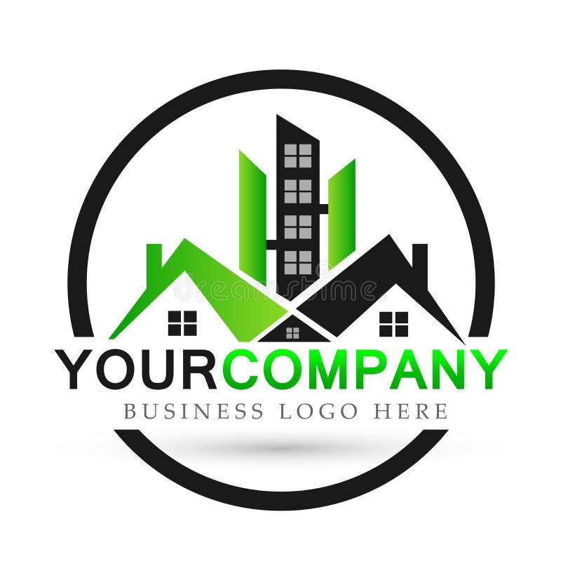 Domowi domowi nieruchomość logo budynku architektury domu ikon symbolu logo projekta na białym tle ludzie ilustracji