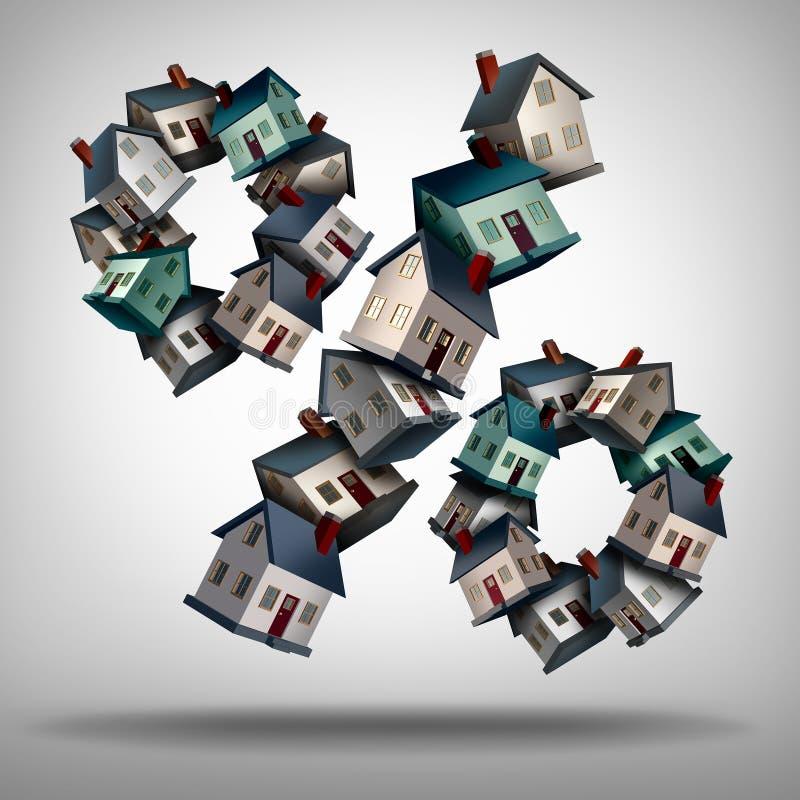 Domowi procenty hipoteczni ilustracji