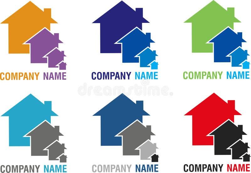 Domowi różni logowie royalty ilustracja