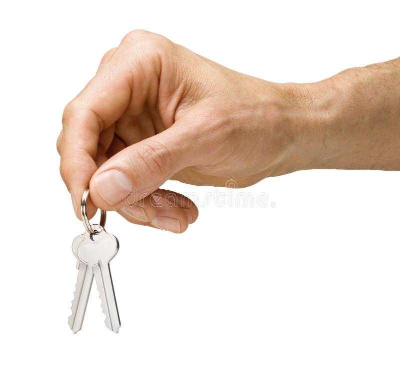 domowi ręka klucze fotografia stock