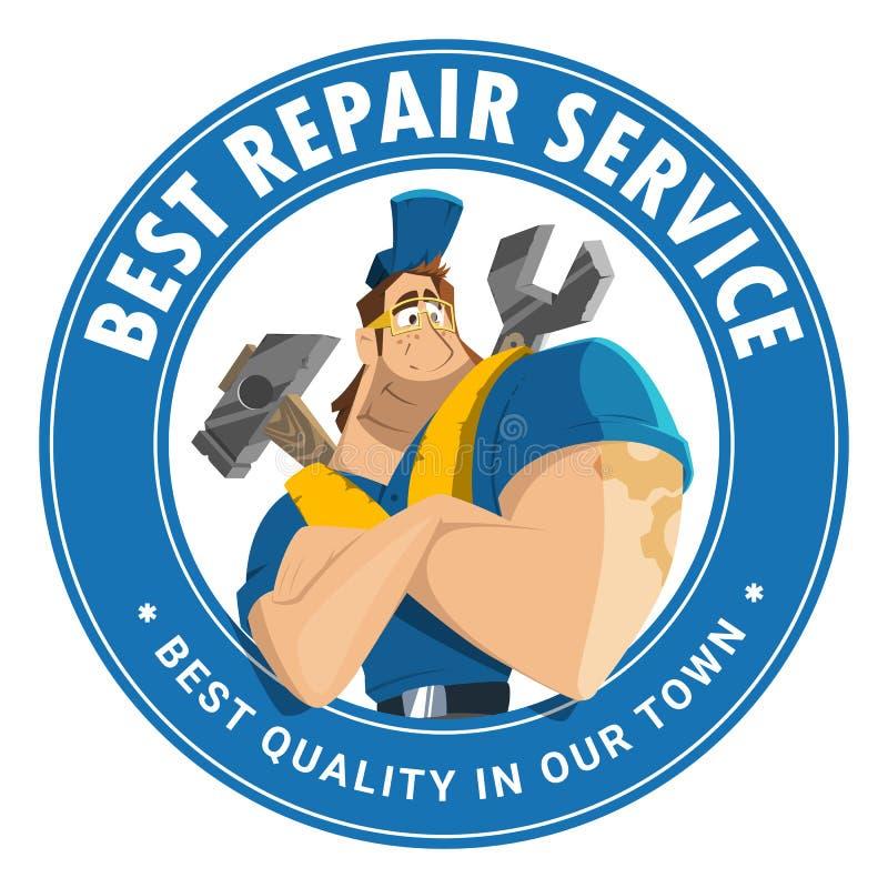 Domowy auto samochodowy remontowej usługa narzędzia sklepu sklepu loga projekt ilustracji