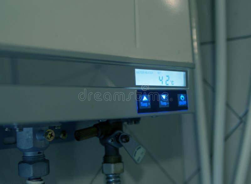 Domowy benzynowy wodny nagrzewacz zdjęcie stock