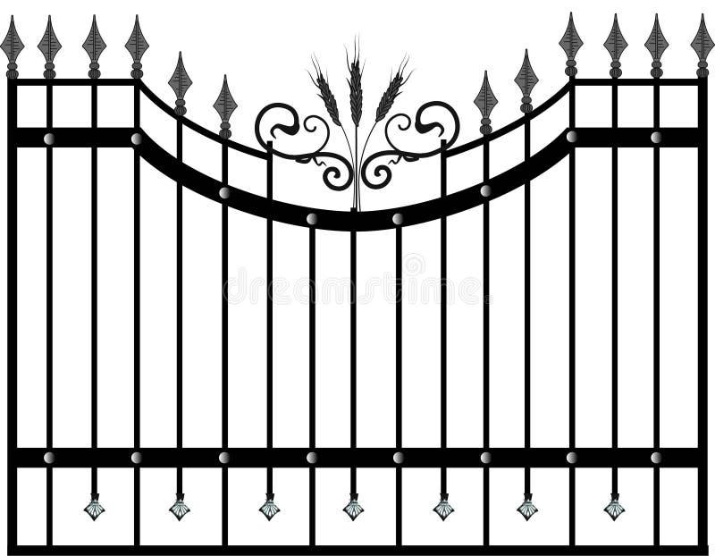 Domowy bramy i ogrodzenia wektor wally forged produkty ilustracji