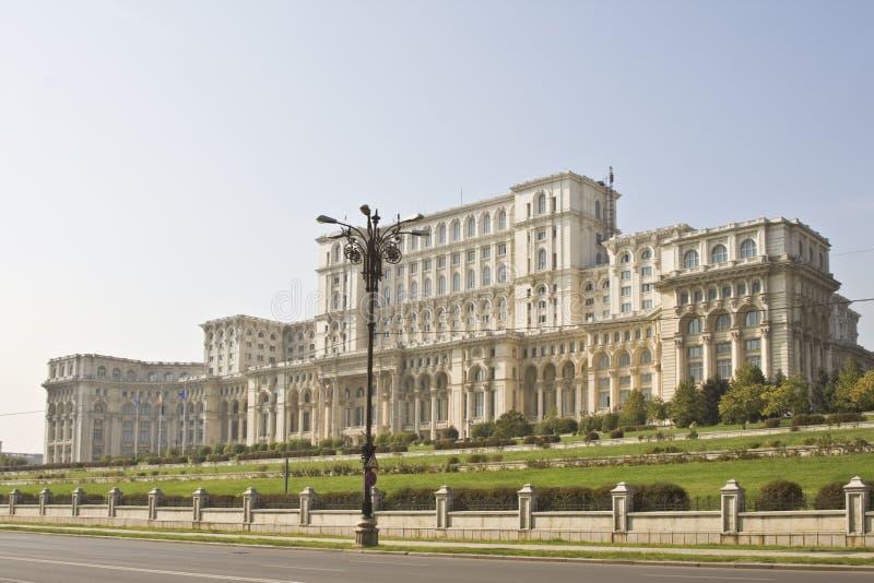 domowy Bucharest parlament Romania fotografia stock