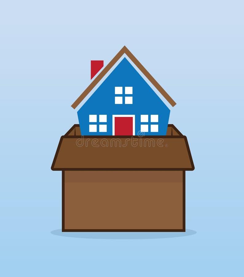 Domowy chodzenia pudełko ilustracji