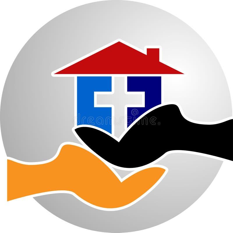 Domowy chwyta logo royalty ilustracja