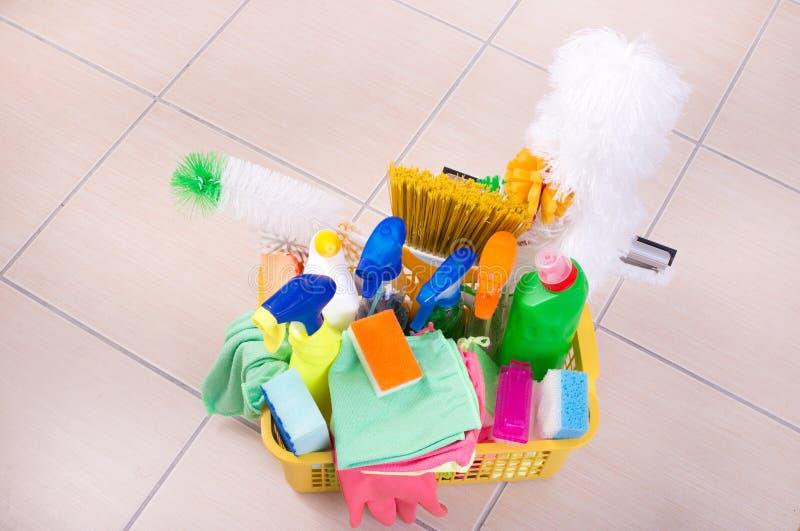 Domowy cleaning pojęcie zdjęcia stock