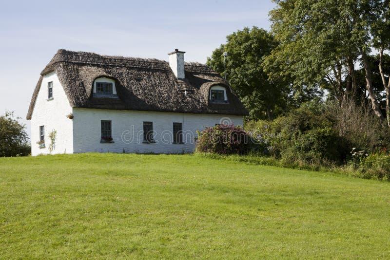 domowy dach pokrywać strzechą zdjęcie royalty free