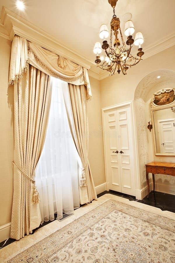 domowy draperii wnętrze fotografia stock
