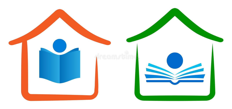 Domowy edukacja logo ilustracja wektor