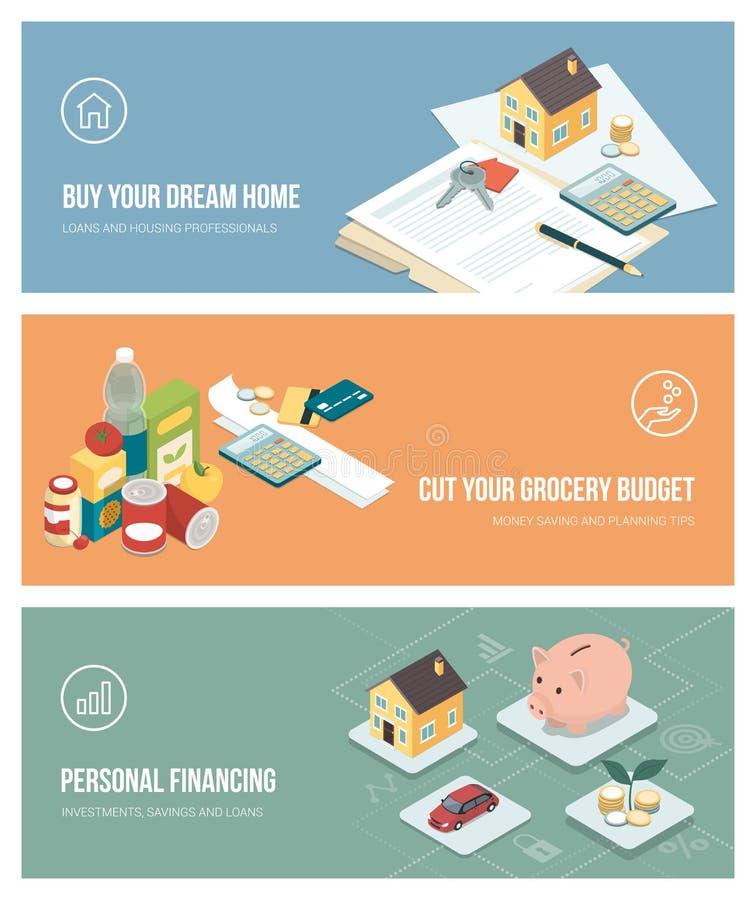 Domowy finanse, inwestycje i budżetować, ilustracji