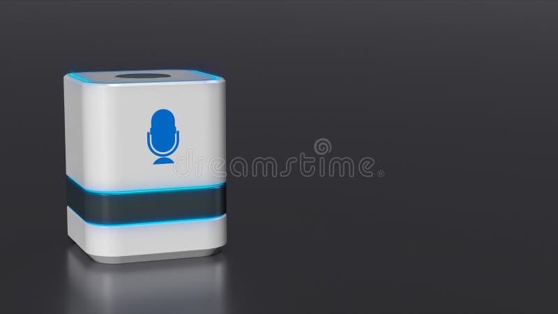 Domowy głosu asystent ilustracja wektor