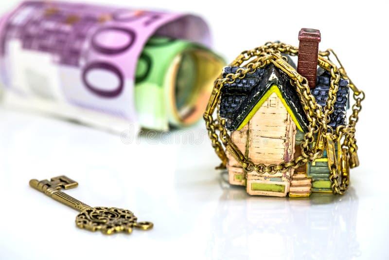 Domowy i euro pieniądze obraz stock