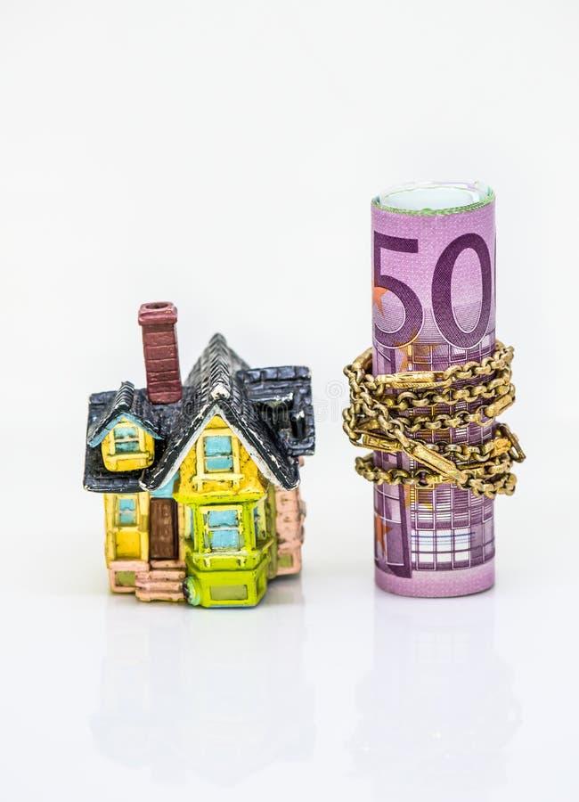 Domowy i Euro pieniądze pojęcie obraz royalty free