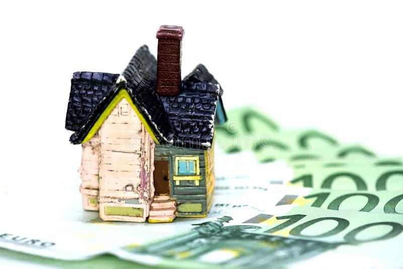 Domowy i Euro pieniądze pojęcie zdjęcia stock