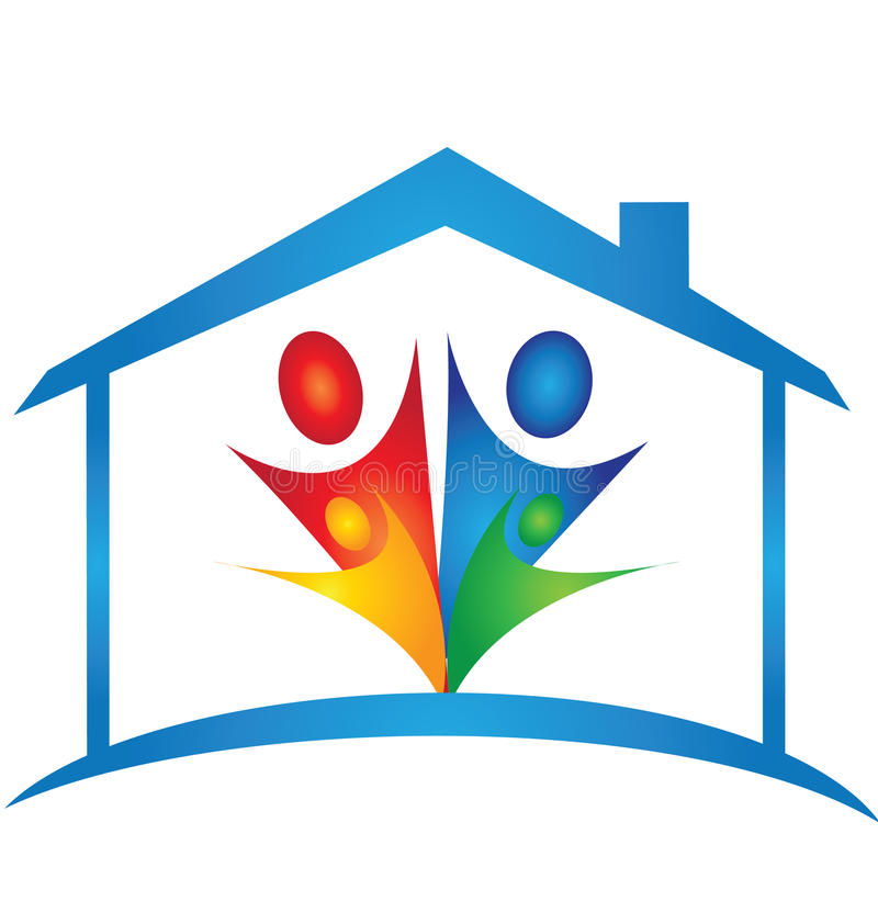 Domowy i rodzinny logo royalty ilustracja