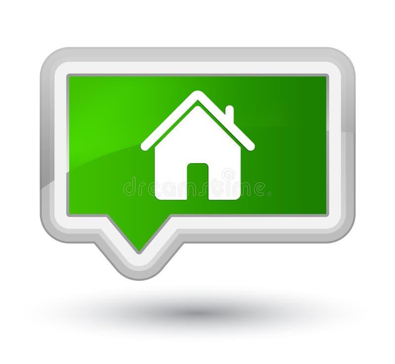 Domowy ikony primy zieleni sztandaru guzik royalty ilustracja