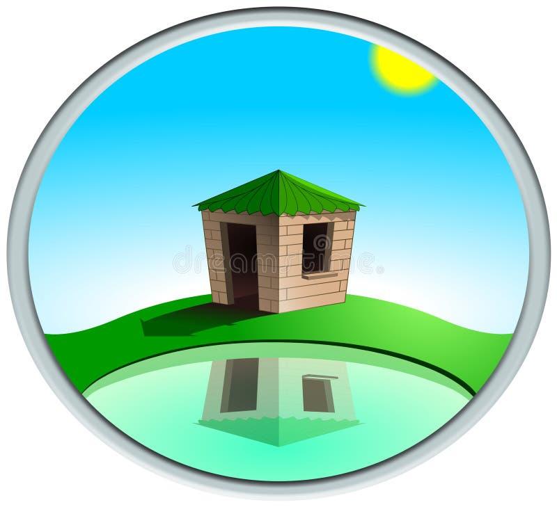 domowy jeziorny pobliski ilustracji