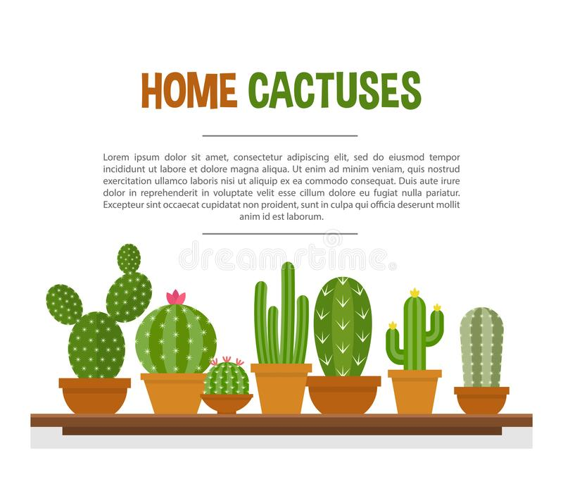 Domowy kaktusa mockup royalty ilustracja