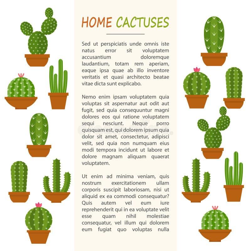 Domowy kaktusa mockup ilustracji