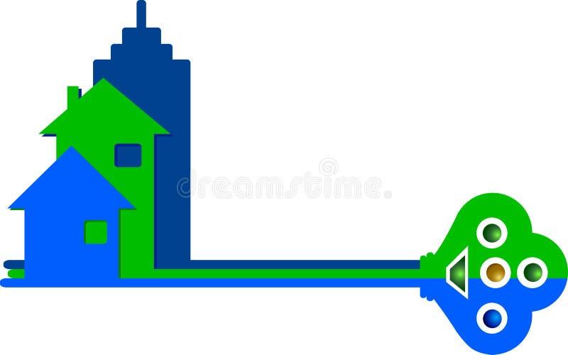 domowy klucz royalty ilustracja