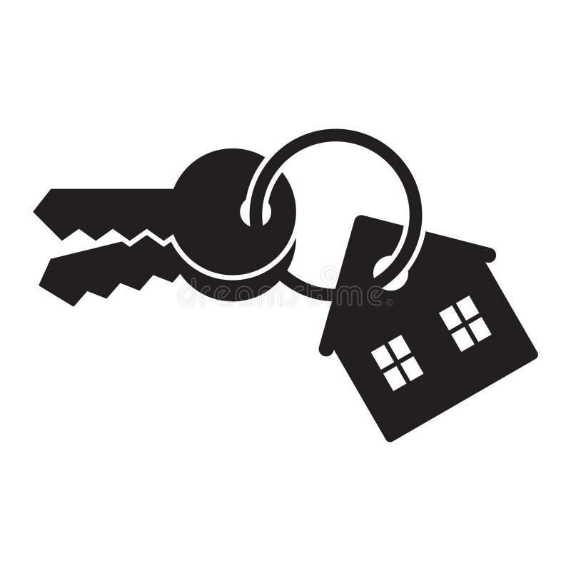 Domowy klucz odizolowywaj?cy na bia?ym tle royalty ilustracja