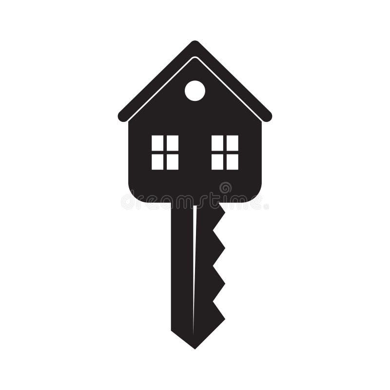 Domowy klucz odizolowywaj?cy na bia?ym tle ilustracja wektor