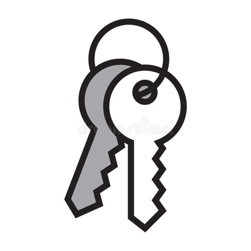 Domowy klucz odizolowywaj?cy na bia?ym tle ilustracji