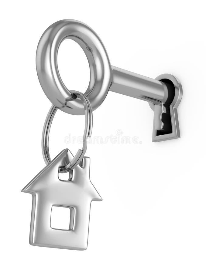 Domowy klucza 3d pojęcie ilustracja wektor