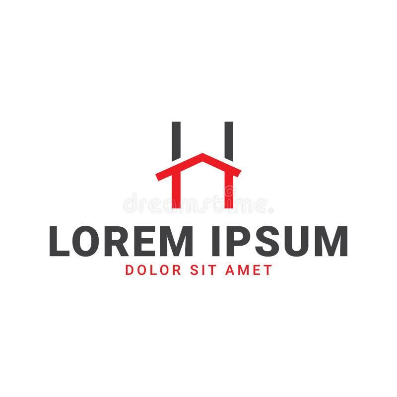 Domowy loga projekt fotografia stock