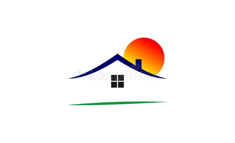 Domowy loga projekt ilustracja wektor